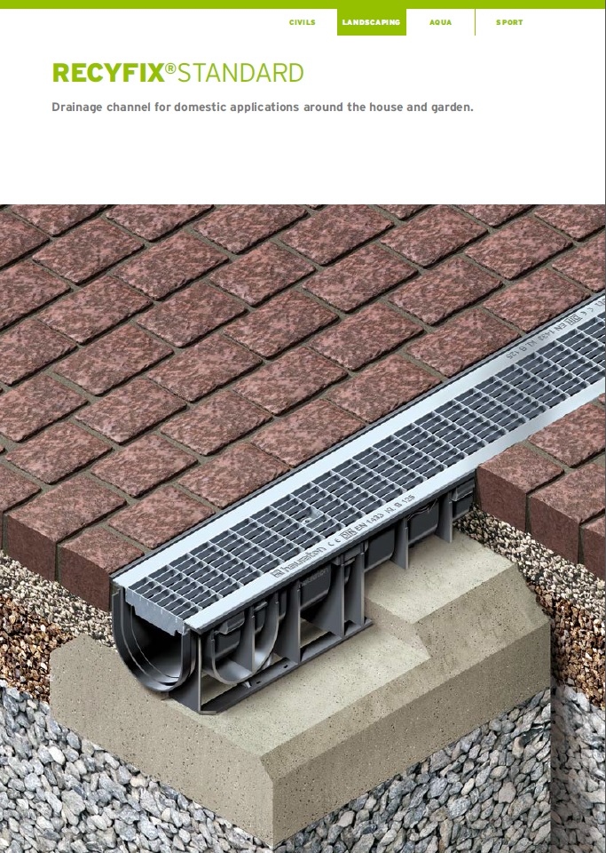 Channel Drainage For Patios: Drainage Channel Recyfix Standard