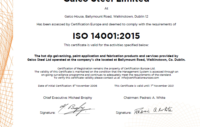 Galco ISO 14001 2015