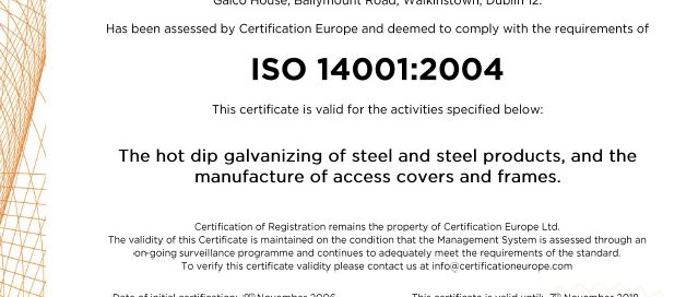 Galco Steel ISO14001