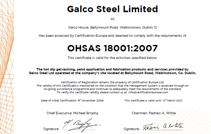 Galco ISO 18001 2007