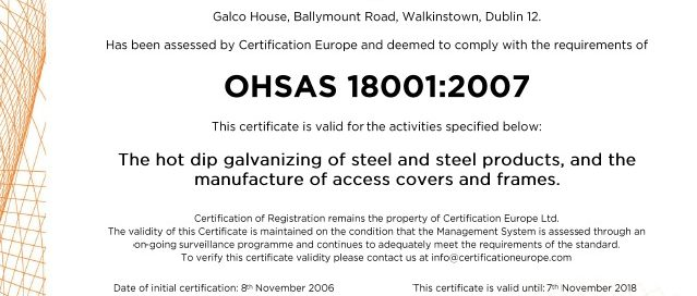 Galco ISO 18001