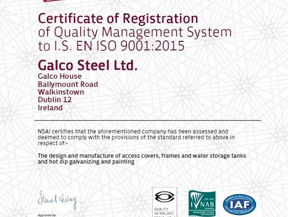 Galco ISO 9001