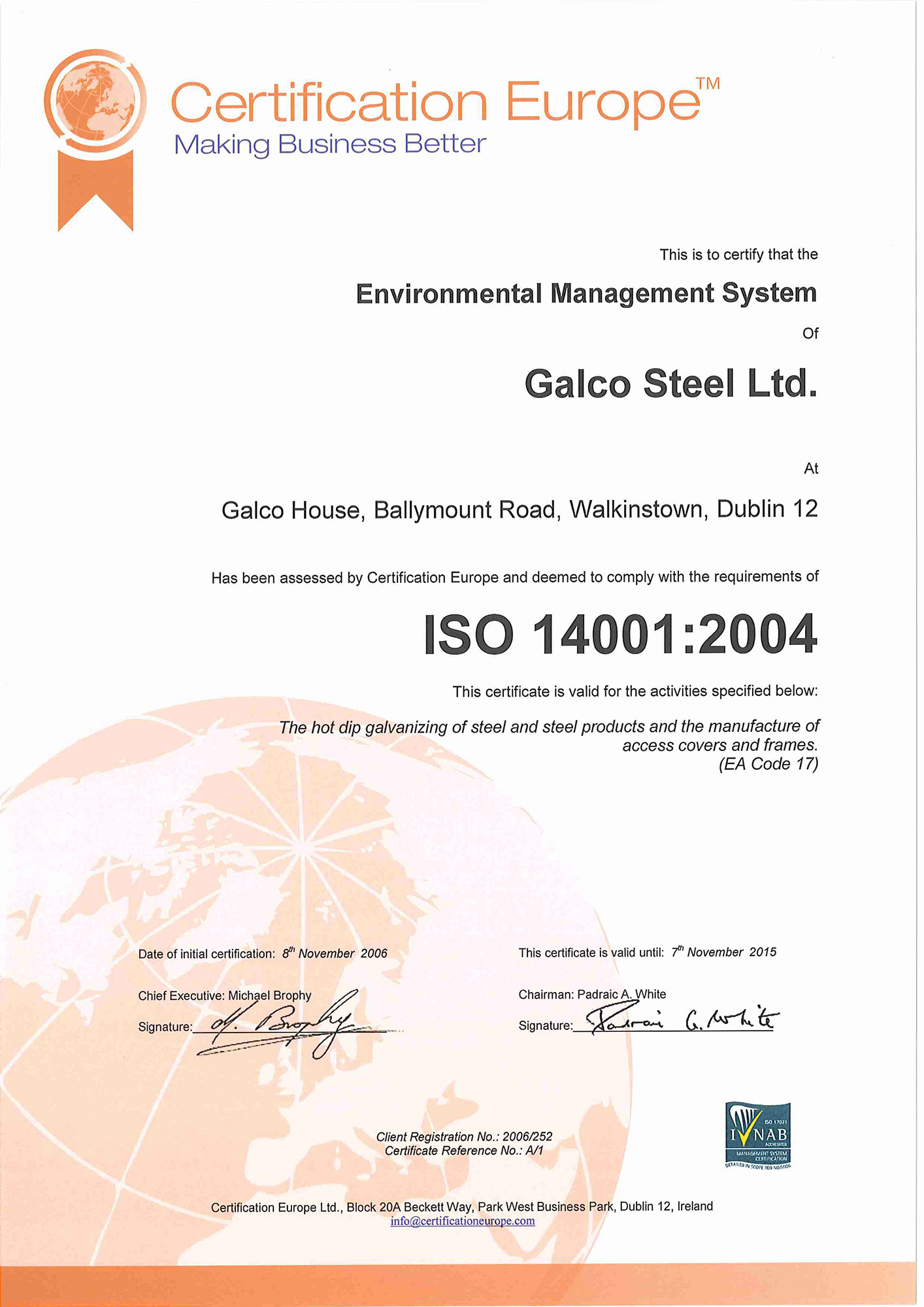 Galco ISO 14001 2004