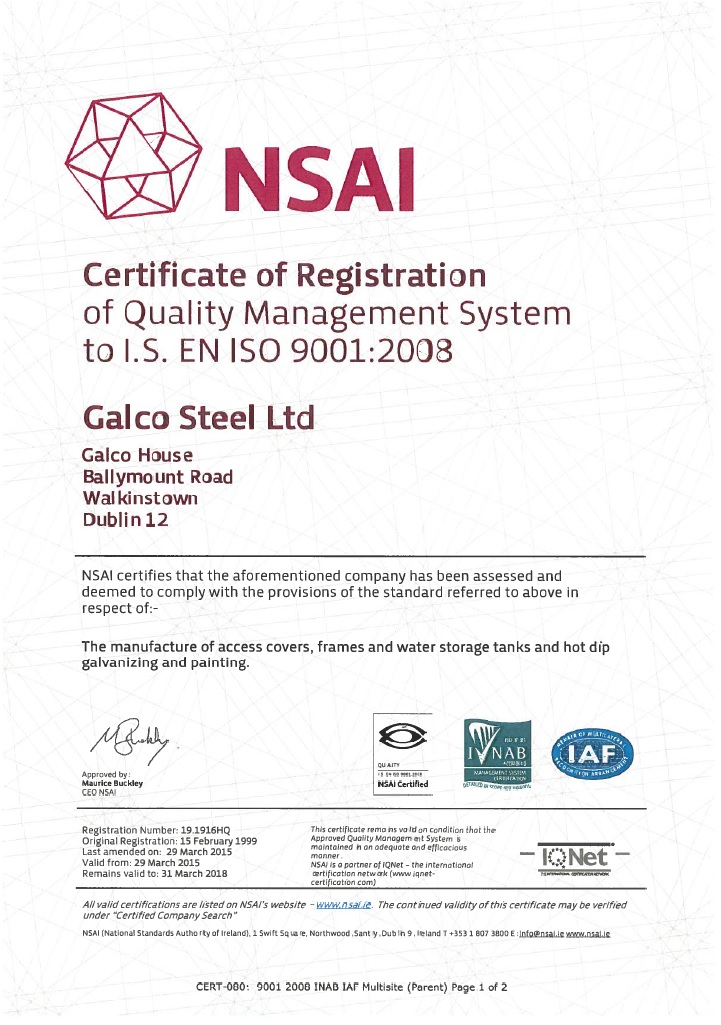 ISO 9001 Galco