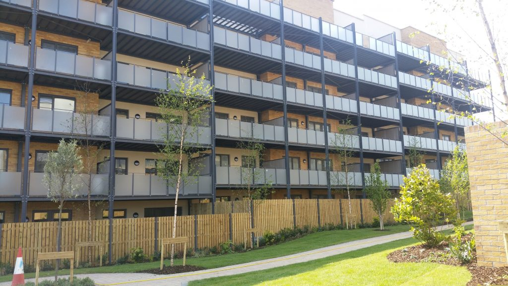 finglas apartment balconies galvanized and painted