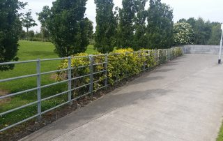 galvanised fencing