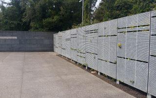 hot dip galvanized fence