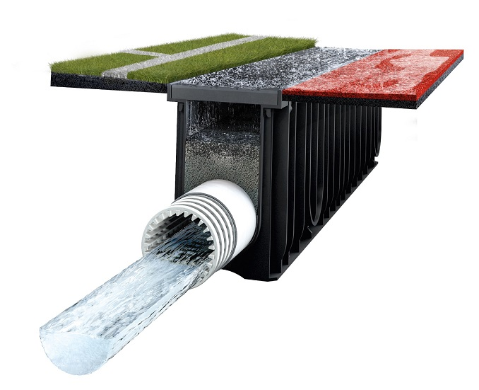 Monotec monolithic drainage system