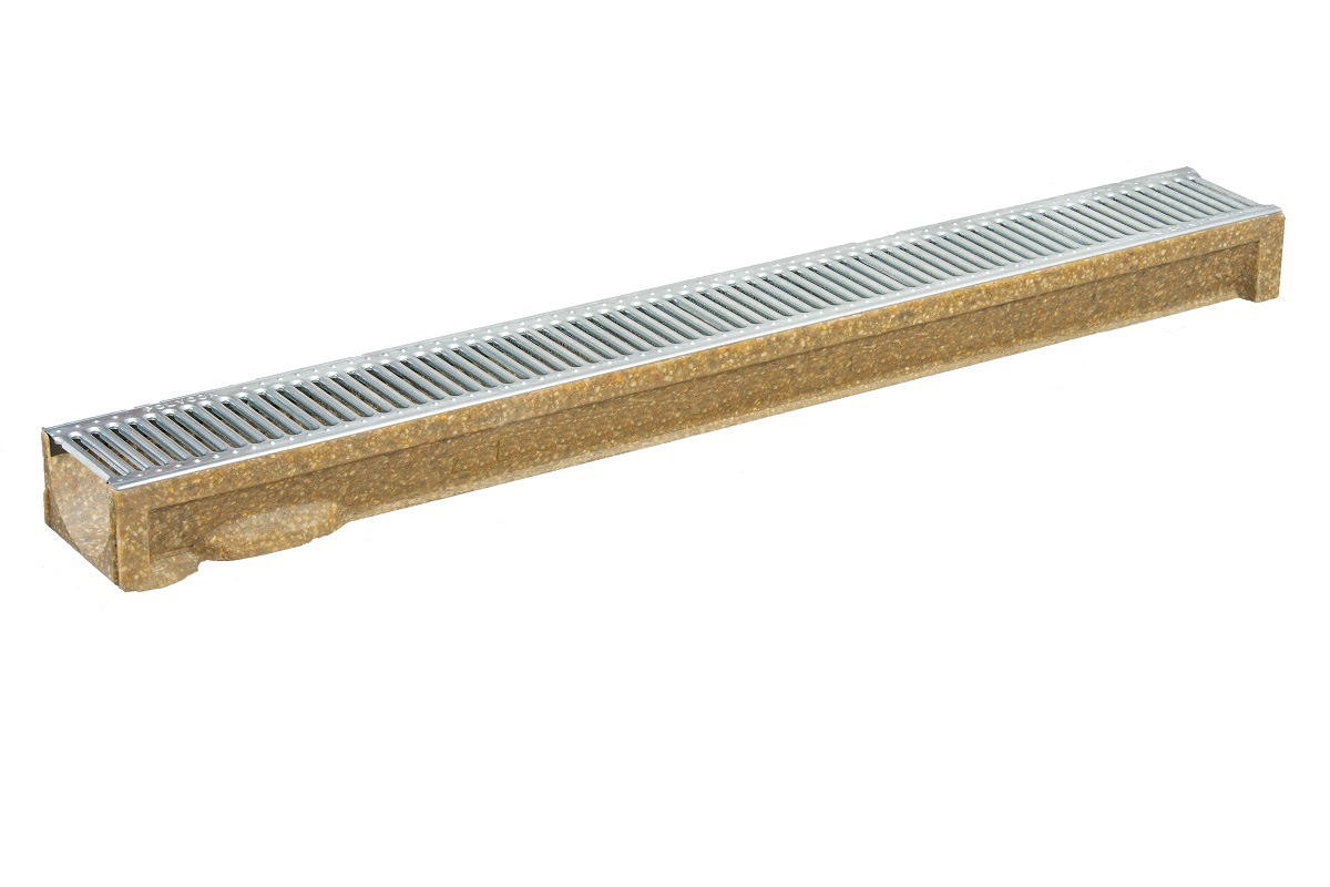 A15 Polymer Concrete Channel Galvanized Grating ANR80G24