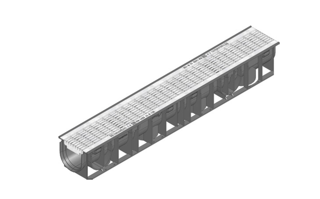 B125 Polypropylene Channel Mesh Galvanized Grating 41220