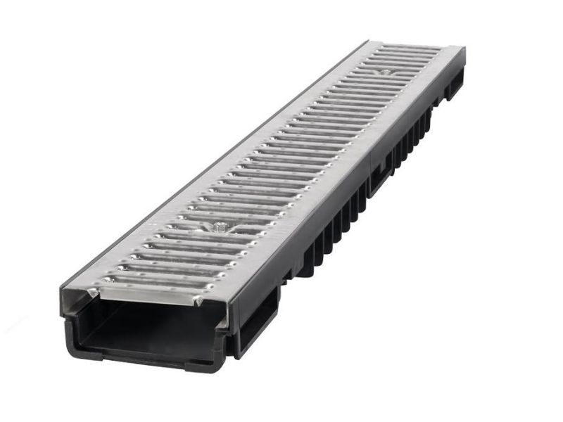 SHALLOW PAVEMENT DRAINAGE CHANNEL STAINLESS GRATING BBET0086