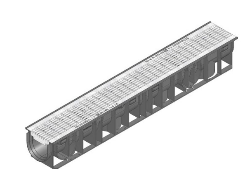 B125 Polypropylene Channel Mesh Galvanized Grating 41220