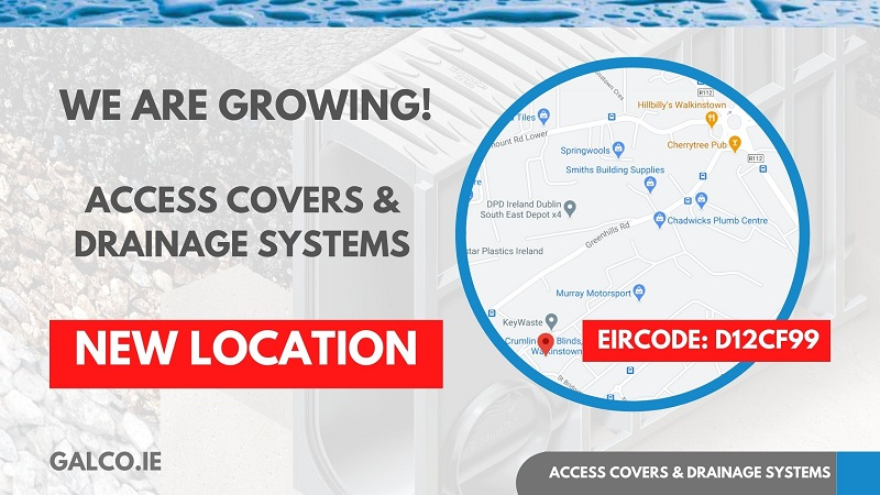 Galco access covers new location